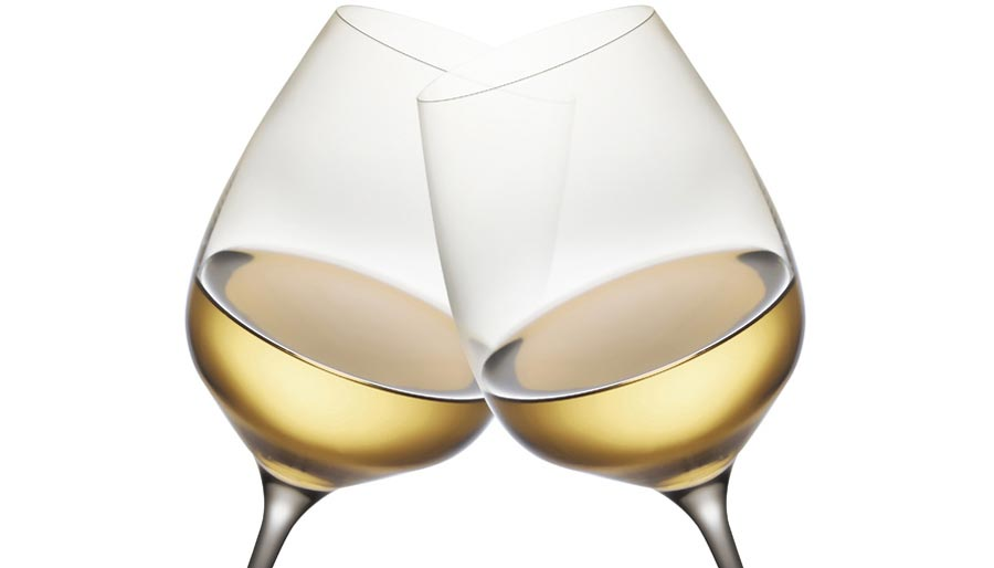 Toasting wine glasses