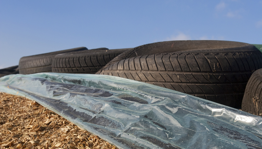 Tires, plastic and silage