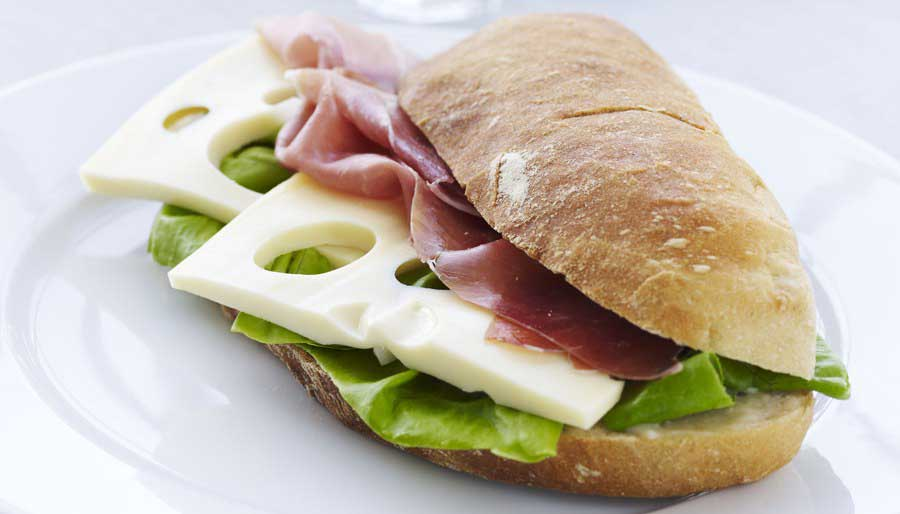 Cheese and ham sandwhich