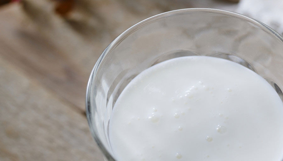 Portion of kefir